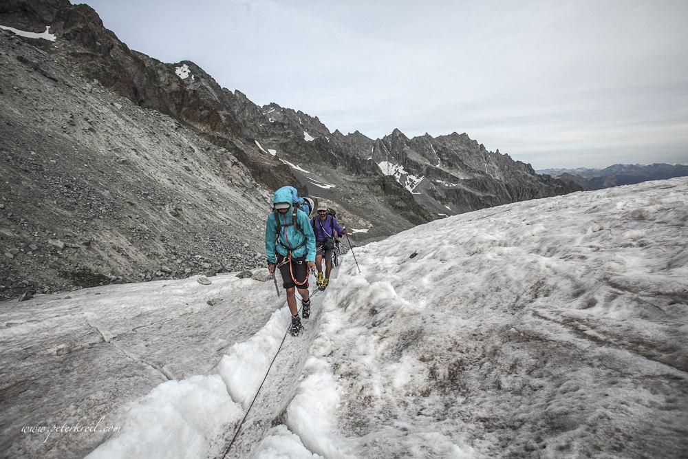 Travesía del Glaciar Blanc