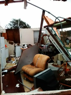 Winds during Hurricane Maria reached up to 175mph and ripped apart homes like the Velazquez's