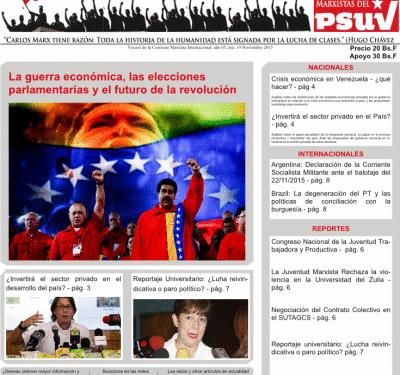 Adquiere ya el periódico Lucha de Clases nro 19 – La guerra económica, las elecciones parlamentarias y el futuro de la revolución