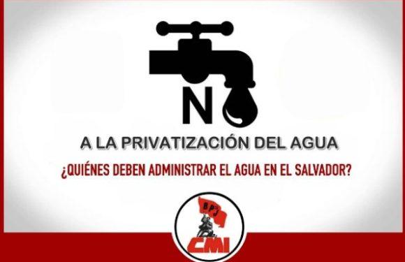 Propuesta del BPJ a la Ley General de Aguas