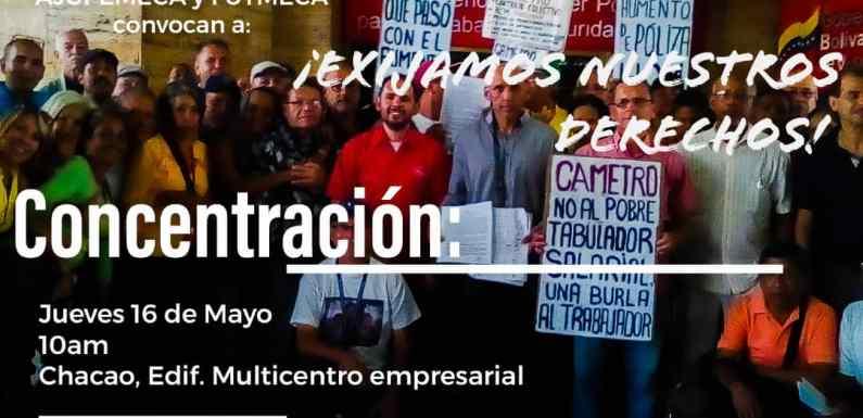 Trabajadores y Jubilados del Metro de Caracas protestan