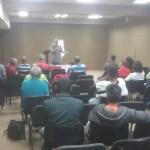 Jorge Martin exponiendo sobre las perspectivas mundiales en la apertura del congreso