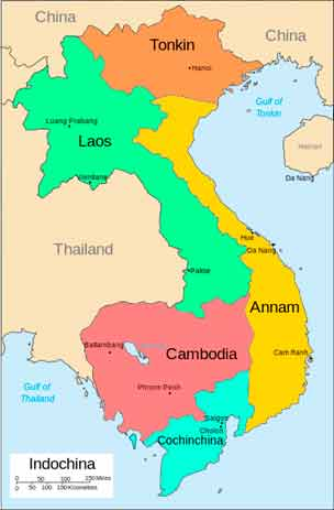 mapa indochina