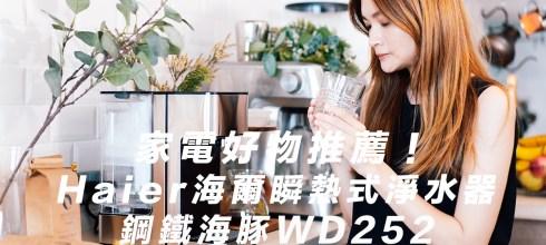 居家生活【家電好物推薦】Haier海爾瞬熱式淨水器WD252(鋼鐵海豚)開箱!瞬熱式飲水機優缺點比較!