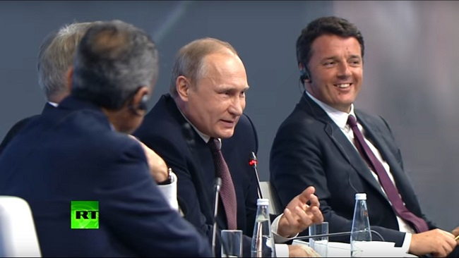 Putin at a forum with CNN journalist