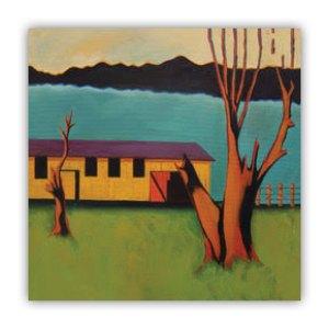 Yellow Barn with Dead Tree Lucia Antonelli