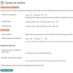 WordPress: Ajustes Multimedia