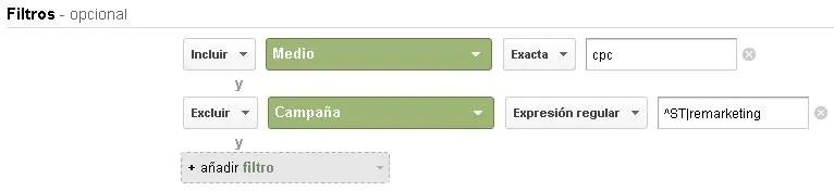 Informe personalizado de resultados patrocinados de Google Adwords