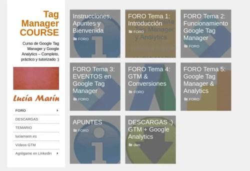 Plataforma online formación GTM
