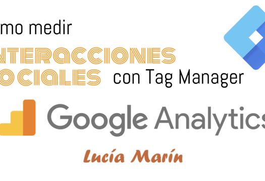 Cómo medir compartir redes sociales tag manager analytics