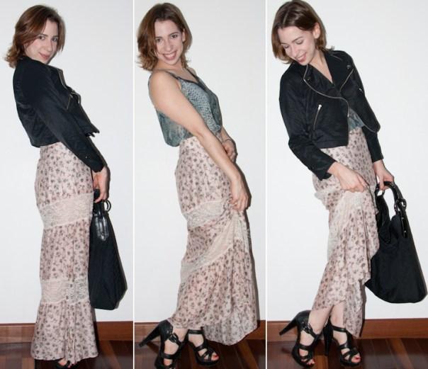 look do dia no blog de moda: como misturar estampas - mix de estampas - como usar saia longa, como misturar padronagens, como usar roupas estampadas, schutz, gucci, blog de moda