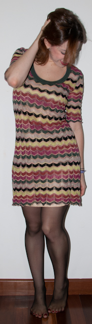 Blog de moda: como usar Vestido estampado Missoni com bota. Blog de moda