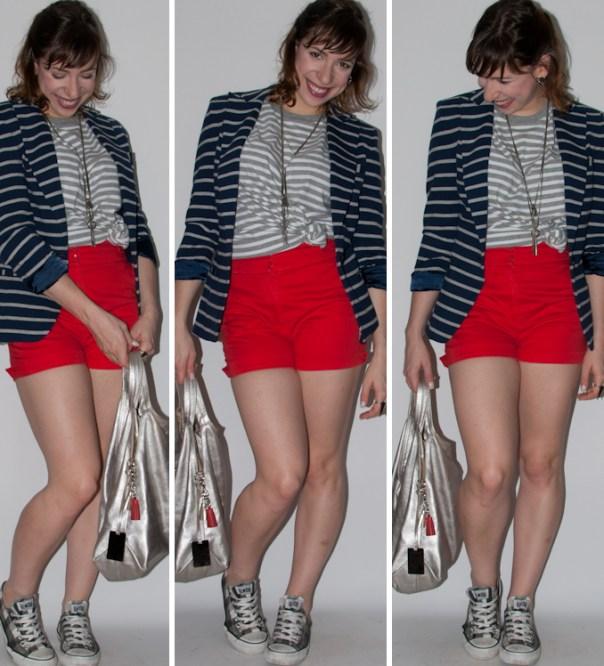 Look do dia: como usar hot pants com blazer. Como fazer a mala para viajar. Blog de moda