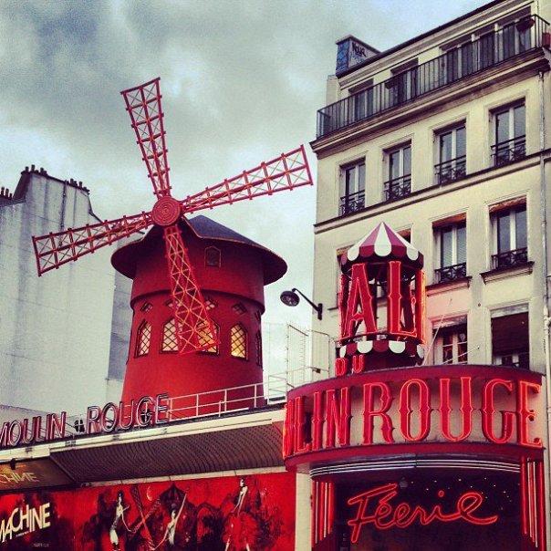 Paris - Fotos de Paris - Moulin Rouge - Instagram