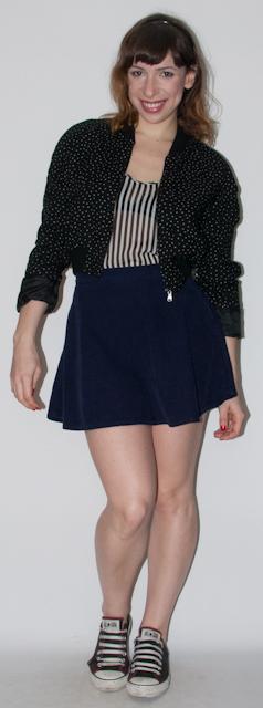 look do dia - como usar jaqueta esportiva e saia rodada - blog de moda-
