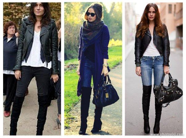 como usar botas over the knee com jeans - dicas de moda