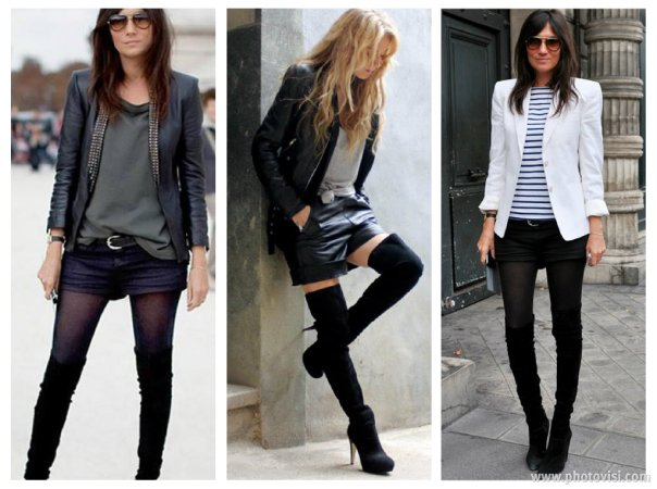 como usar botas over the knee com legging - dicas de moda