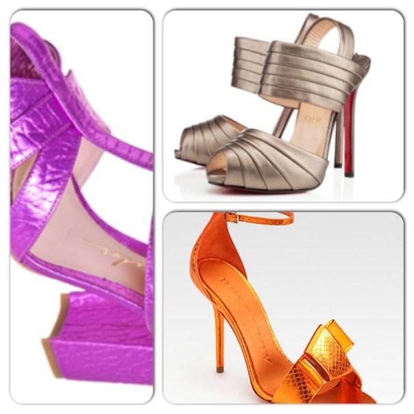 tendências de calçados para a primavera/verão 2013 - metalizados