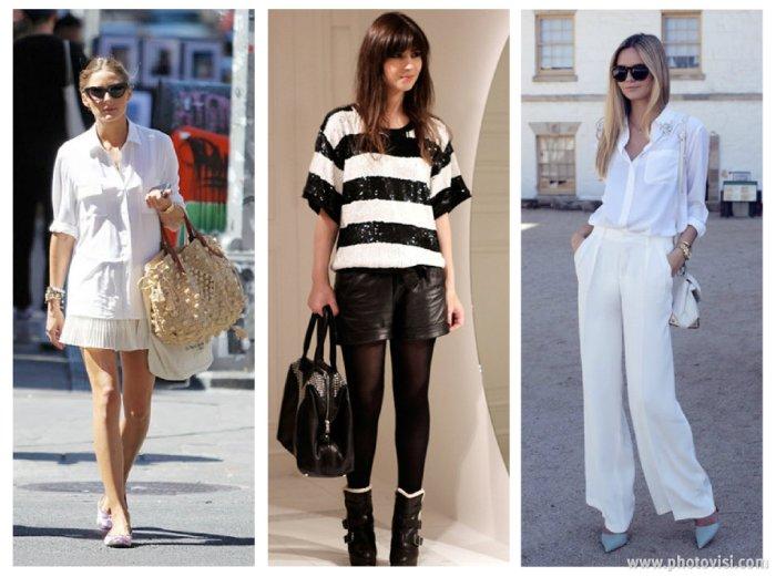 tendências de roupas para a Primavera / Verão 2014 P&B e branco - dicas de moda