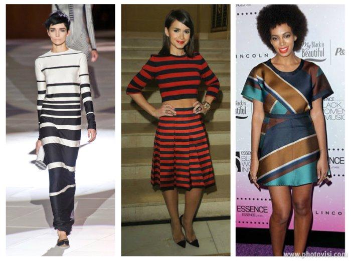 tendências de roupas para a Primavera / Verão 2014 listras - dicas de moda