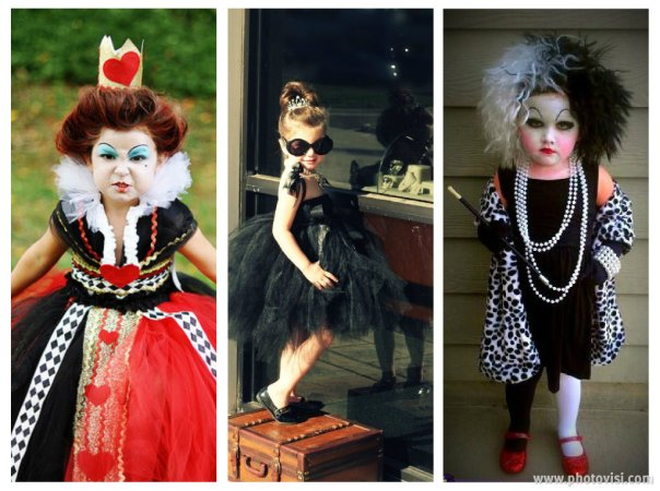 Fantasias de crianças para o Halloween - Personagens femininas de filmes