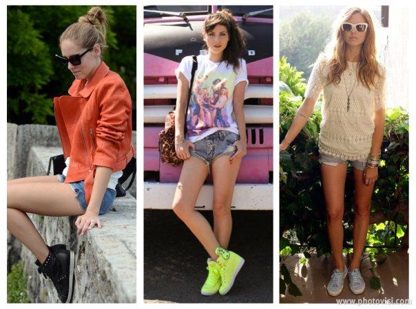 Dicas de moda sobre como usar tênis que compõem looks casuais - short