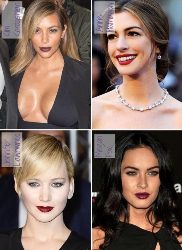 8 maiores tendências de beleza 2014 - batom escuro