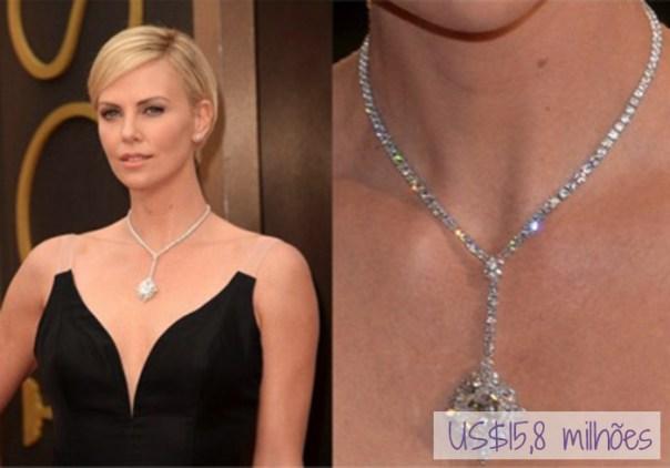 As joias mais caras do mundo no tapete vermelho do Oscar - charlize theron
