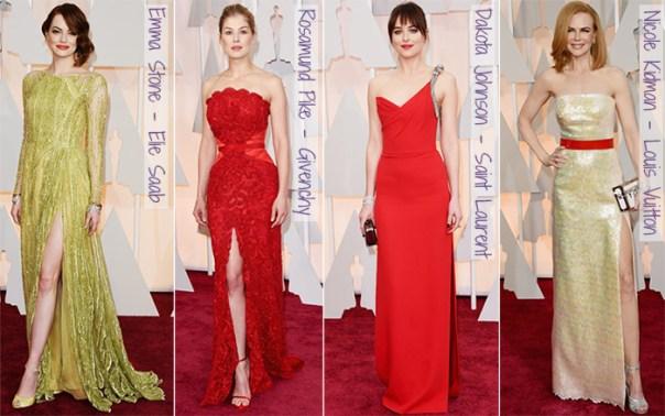 Oscar 2015 - looks do tapete vermelho - fendas