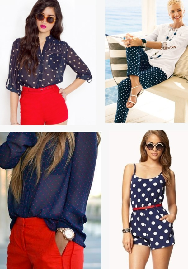 Fourth of July outfit ideas - polka dots