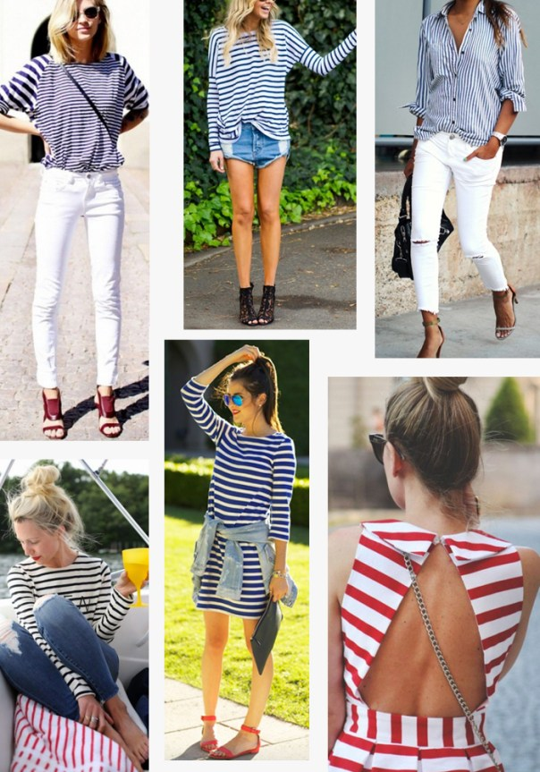 Fourth of July outfit ideas - stripes
