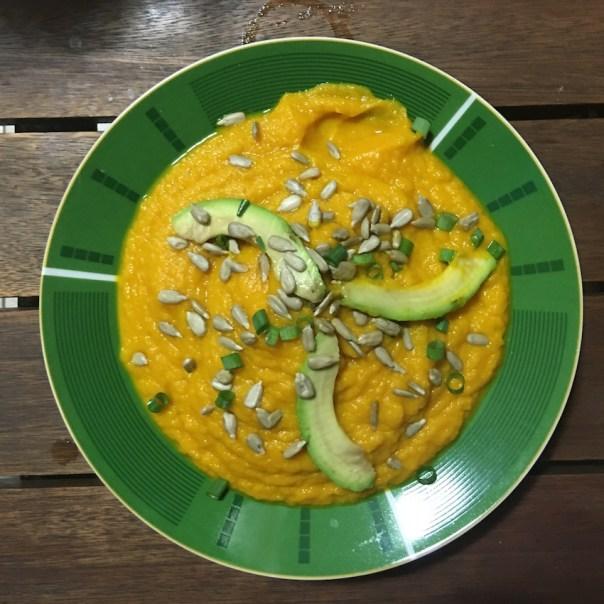 receita sopa de cenoura com gengibre
