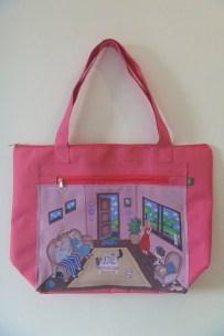 Bolsa 9 gatos rosa