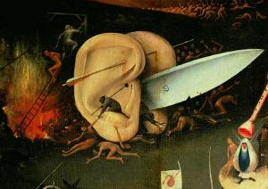 The-Garden-of-Earthly-Delights-Hell-right-wing-of-triptych-detail-of-ears-with-a-knife-1500-xx-Hieronymus-Bosch