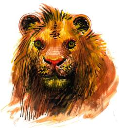 Lucian-Strochi-Leul-ilustratie-de-George-Romila