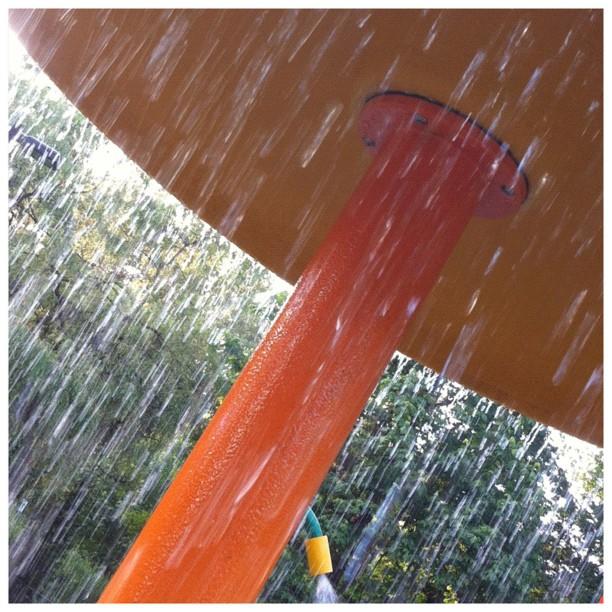 Summer is here: park sprinkler