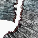 Crêpegewebe - gefächert, bemalt, Seide, Wollcrêpe, Kupfer, 0,30 x 2,10 m