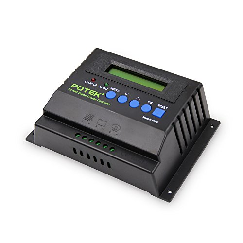 Potek 30A Charge Controller for Solar Panels with LCD display