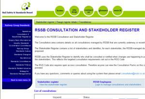 Screenshot - Consultation and Stakeholders Register