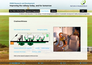 Screenshot - Interactive guide to railway research
