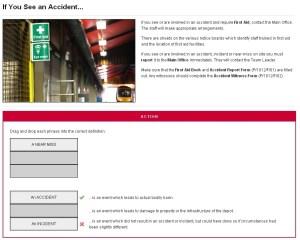Screenshot - Near miss / accident / incident interactive
