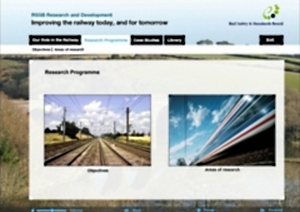 Screenshot - Interactive guide to railway research