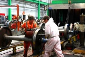Maintenance engineers at Crewe