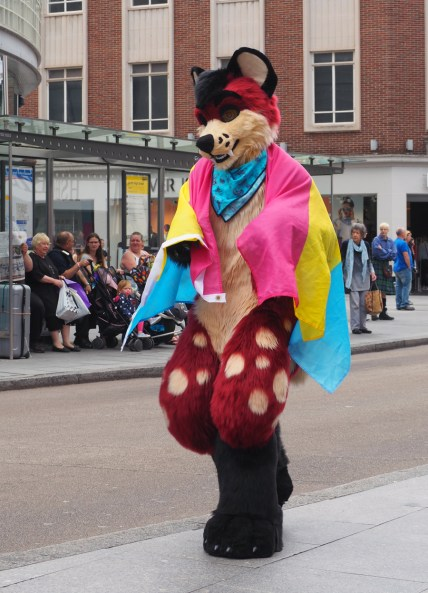 Some being disguised as some animal. It's a furry.