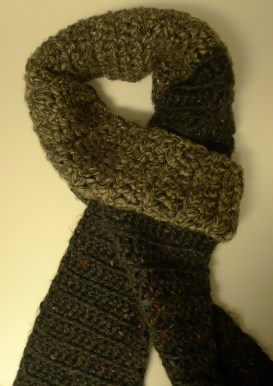 Men's crochet scarf