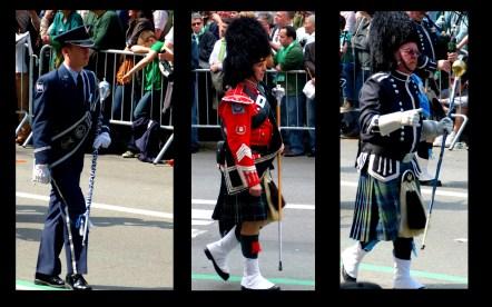 Men at the St Patrick's day parade