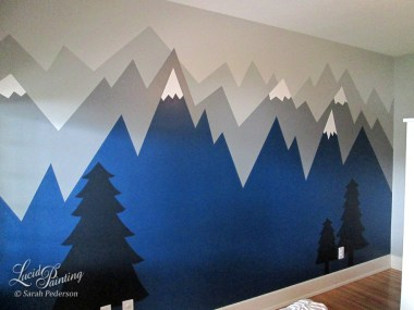 Nursery Mural for baby boy.
