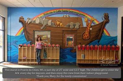 The artist in front of Noah's Ark.