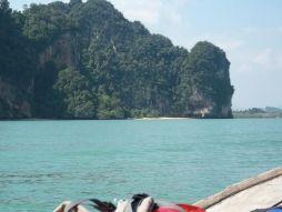 Ocean and Rock Formations, Rai Leh Beach Krabi Thailand