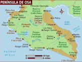 Map of Osa Peninsula Costa Rica